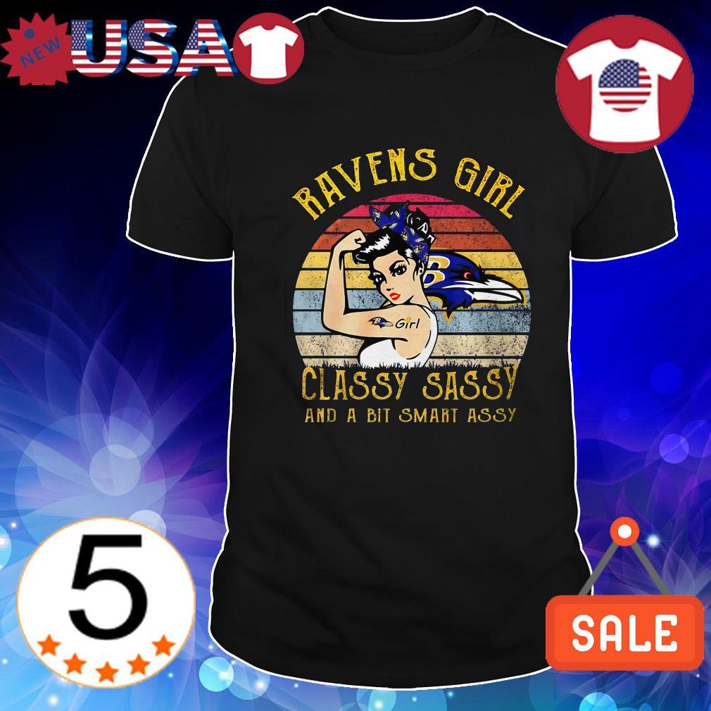 Baltimore Ravens girl classy sassy and a bit smart assy sunset shirt