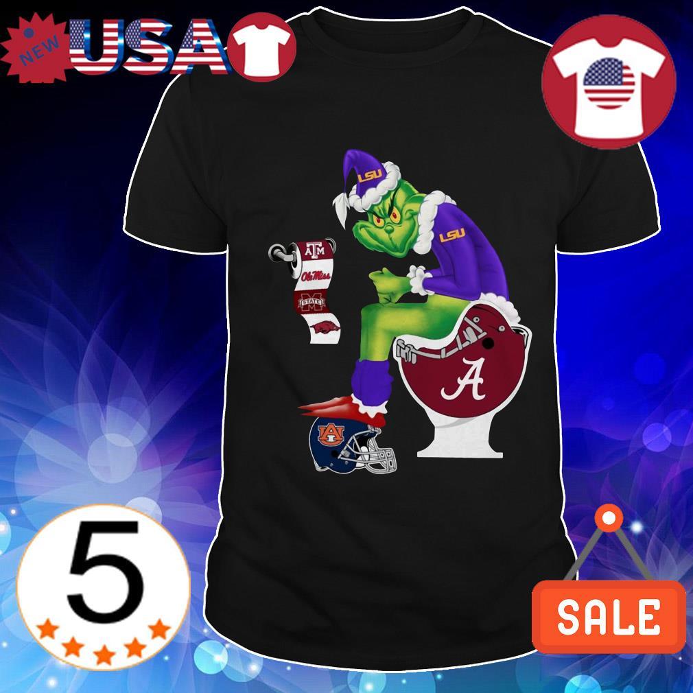 Alabama Crimson Tide Grinch toilet LSU Tigers Texas A&M Aggies Christmas sweater