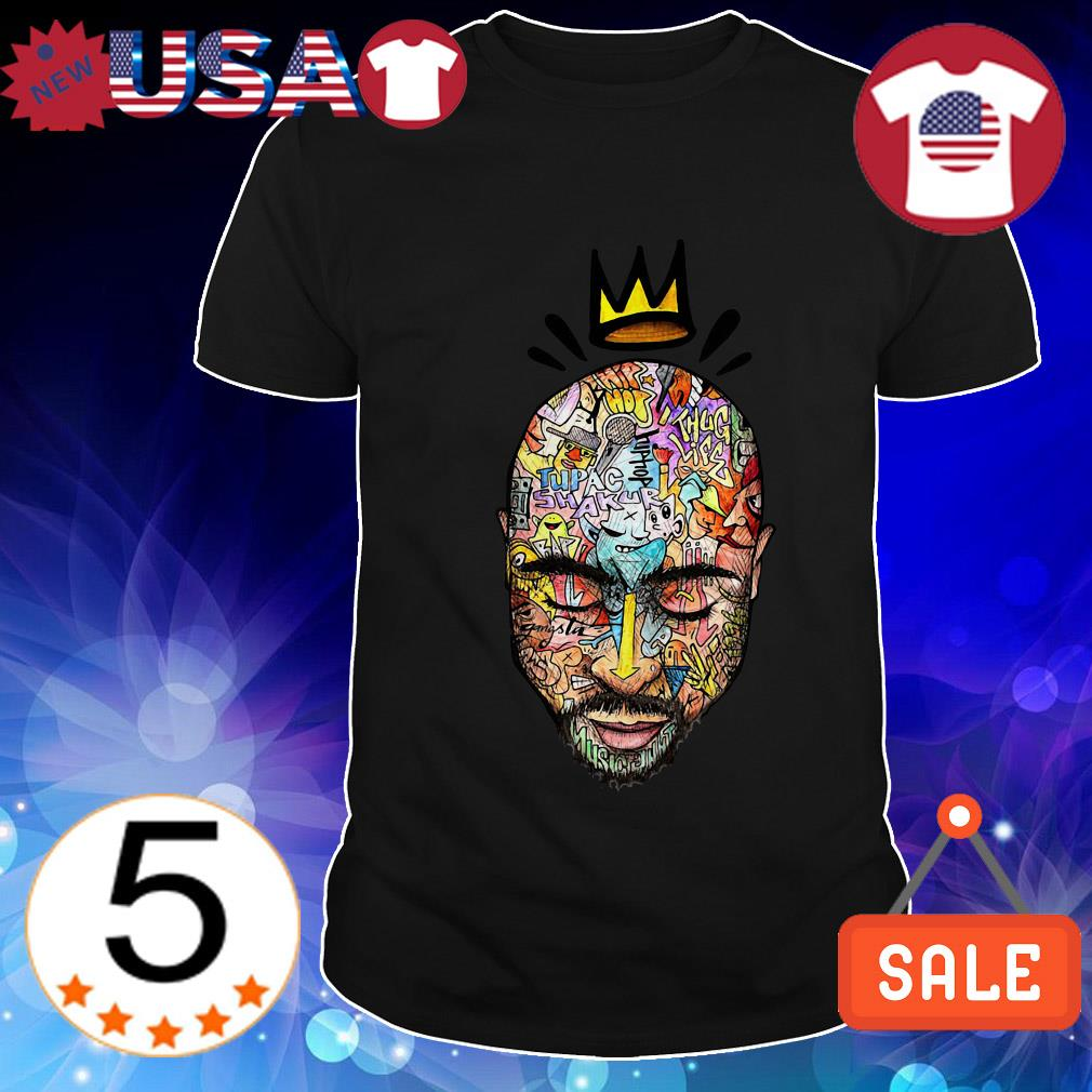 Tupac Shakur crown art shirt