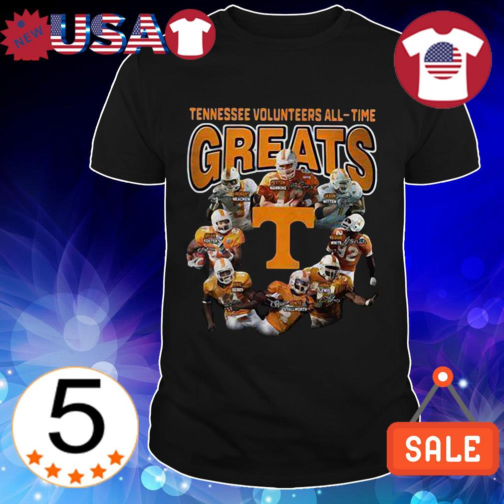 Tennessee Volunteers All Time Greats team players signature shirt