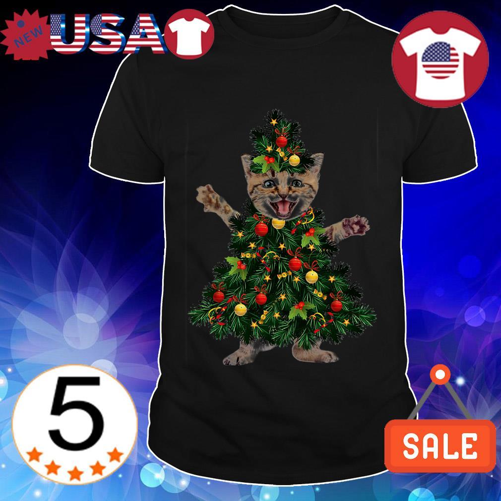Cat pine Christmas tree sweater