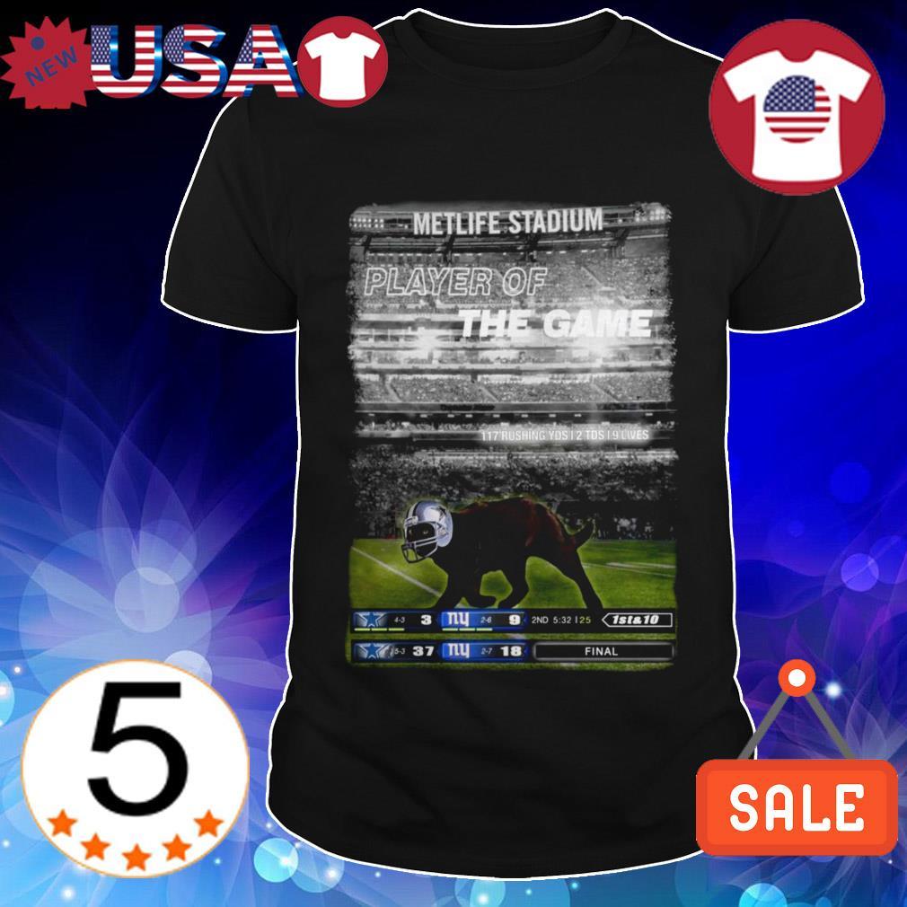 Metlife Stadium Black Cat player of the game shirt