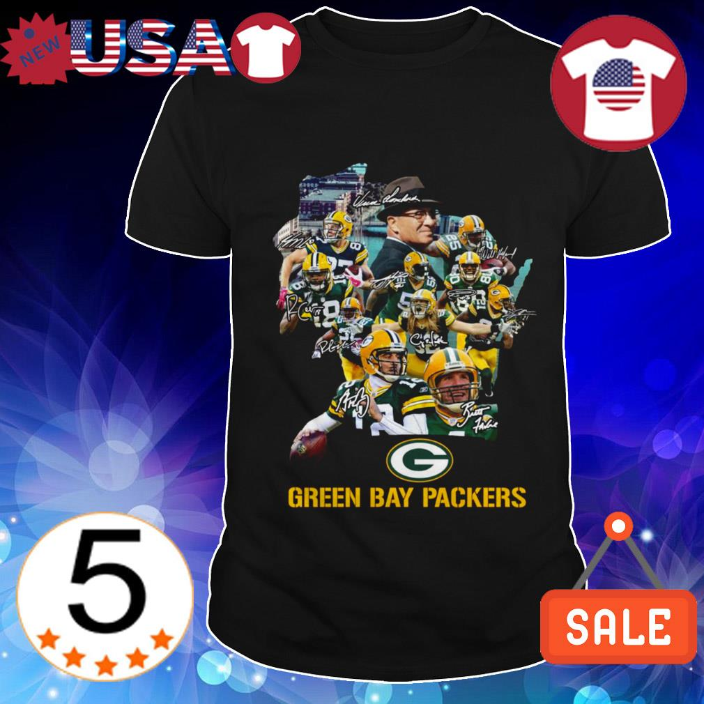 Green Bay Packers team players signature shirt