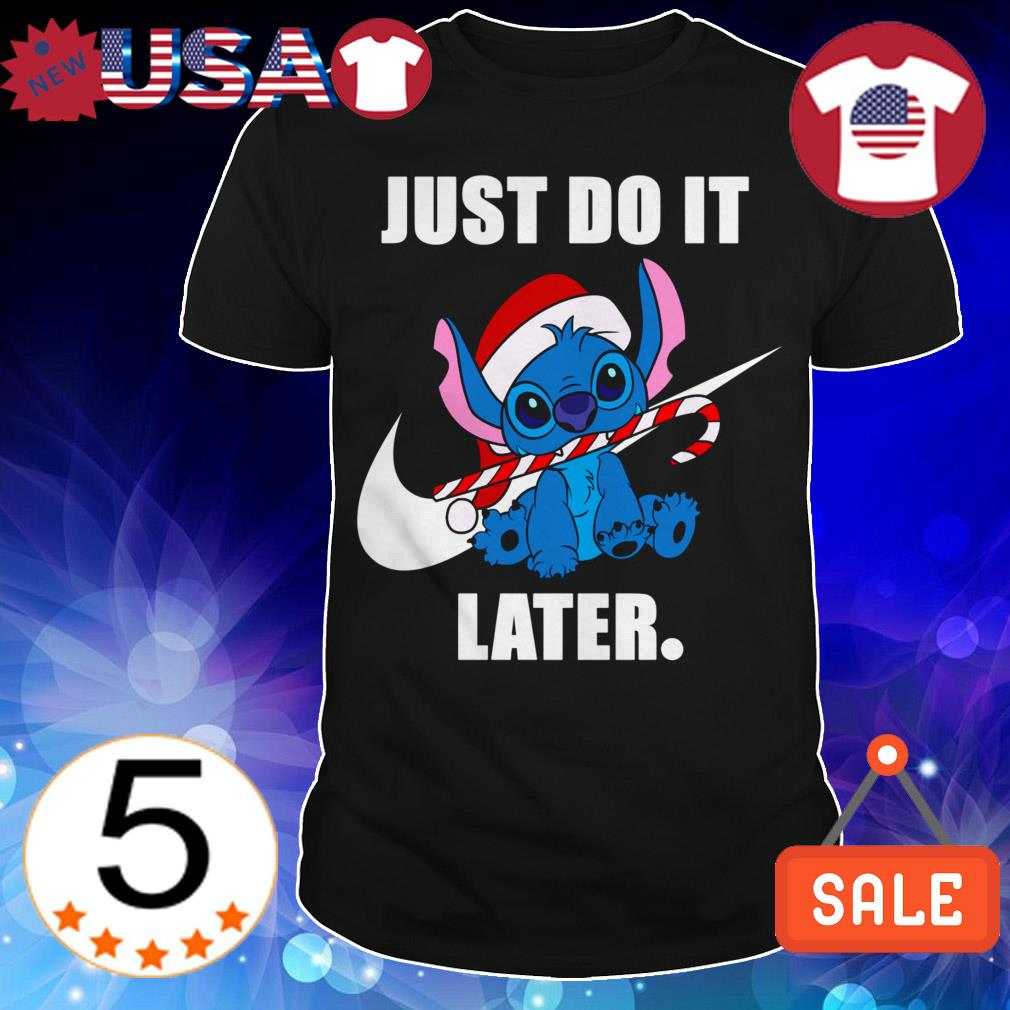 Disney Stitch Nike Just Do It Later Christmas sweater