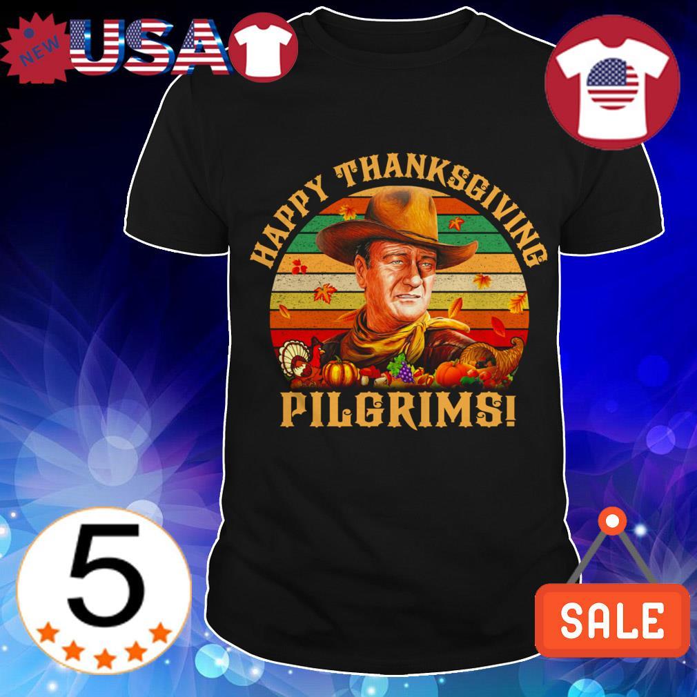 Happy Thanksgiving Pilgrims vintage shirt