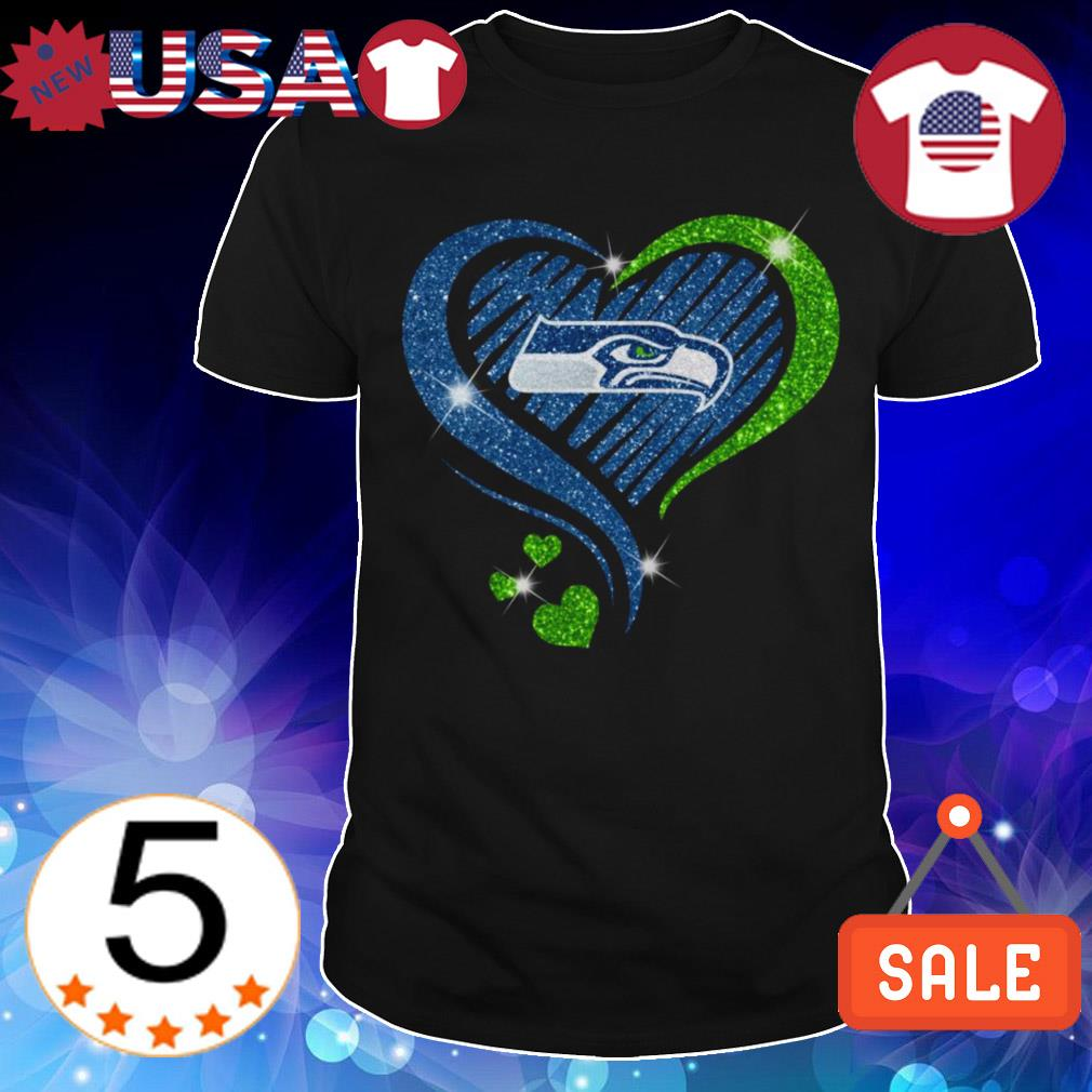 Diamond Seattle Seahawks heart shirt