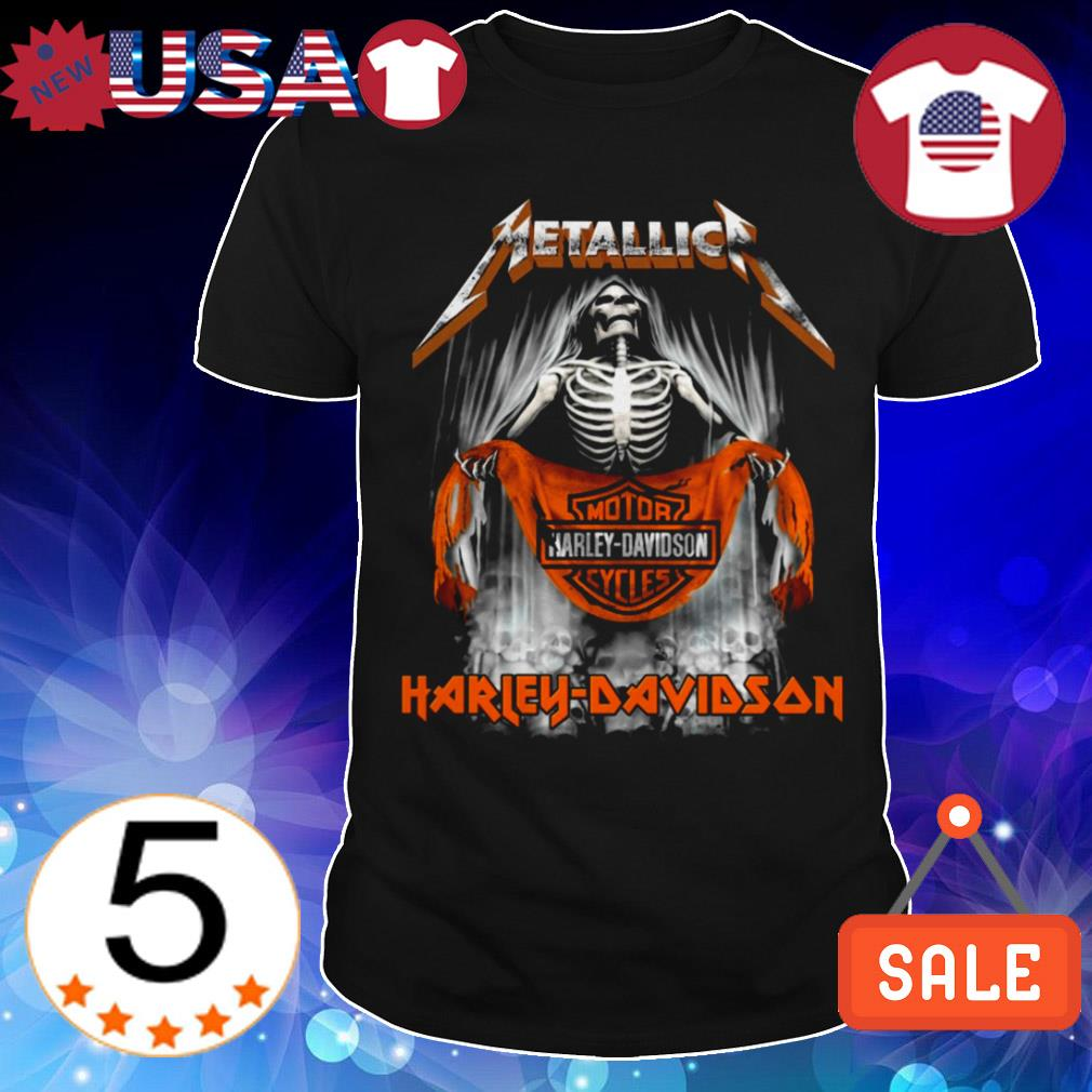Metallica Skull Motor Harley-Davidson Cycles shirt