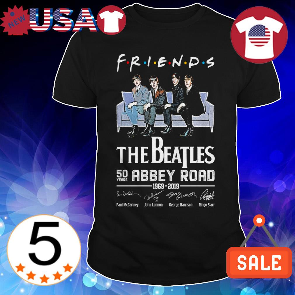 The Beatles Abbey Road 50 years 1969 2019 Friends TV Show signature shirt
