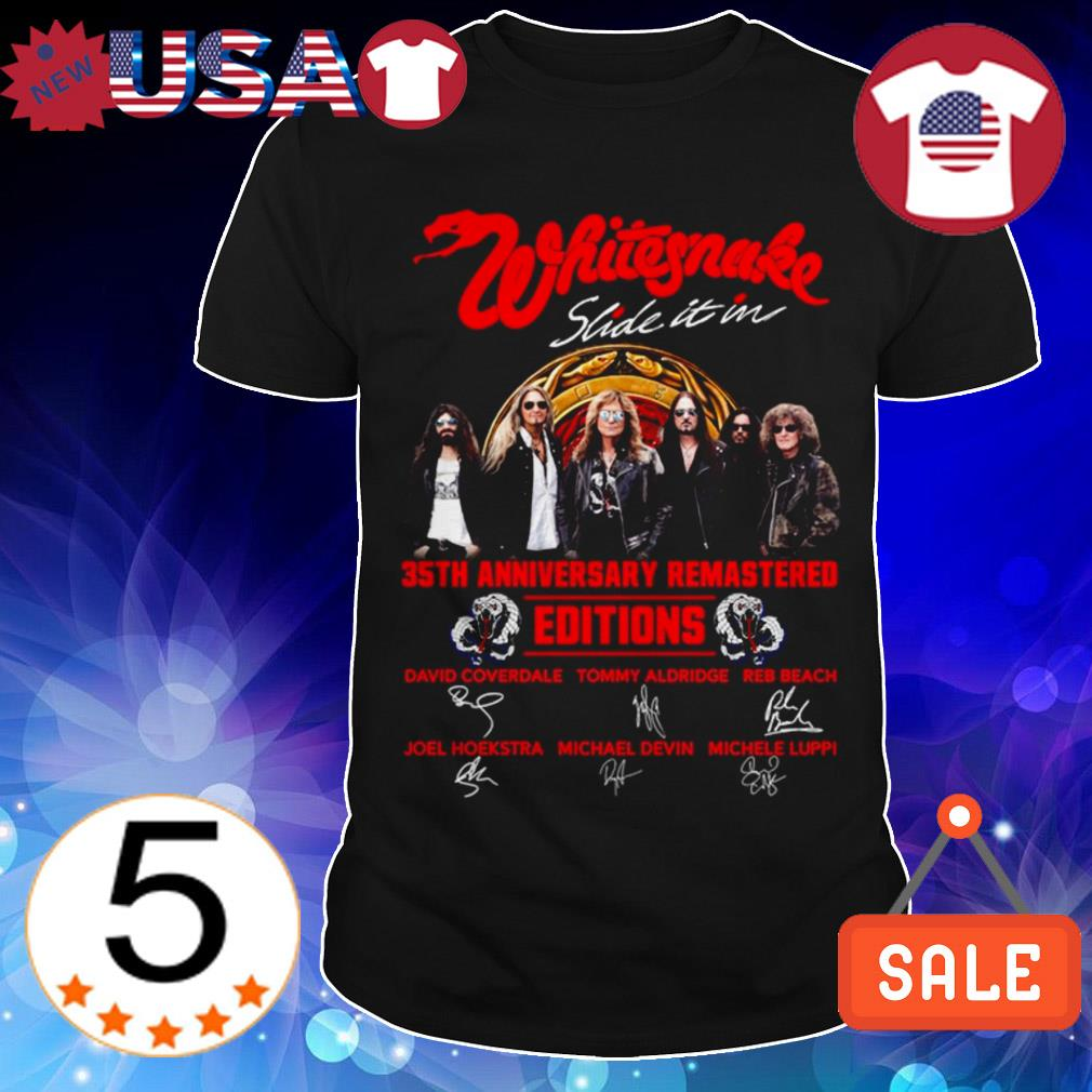 Whitesnake slide it in 35th Anniversary remastered editions signatures shirt