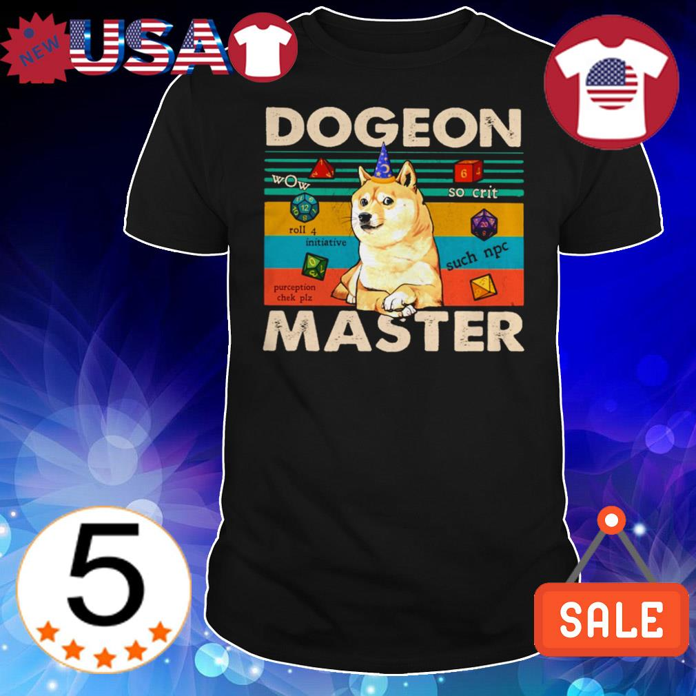 Shiba dogeon master dungeon vintage shirt