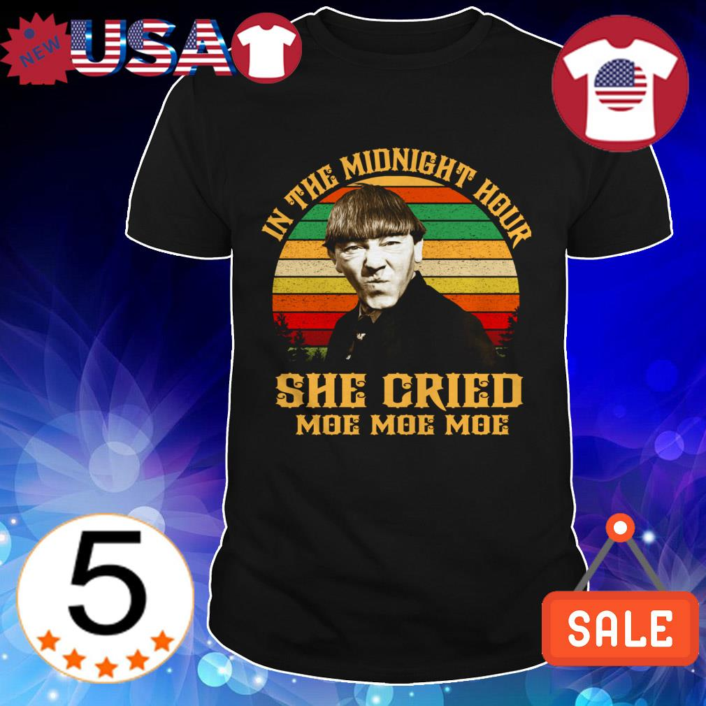 Three Stooges in the midnight hour she cried moe moe moe vintage shirt