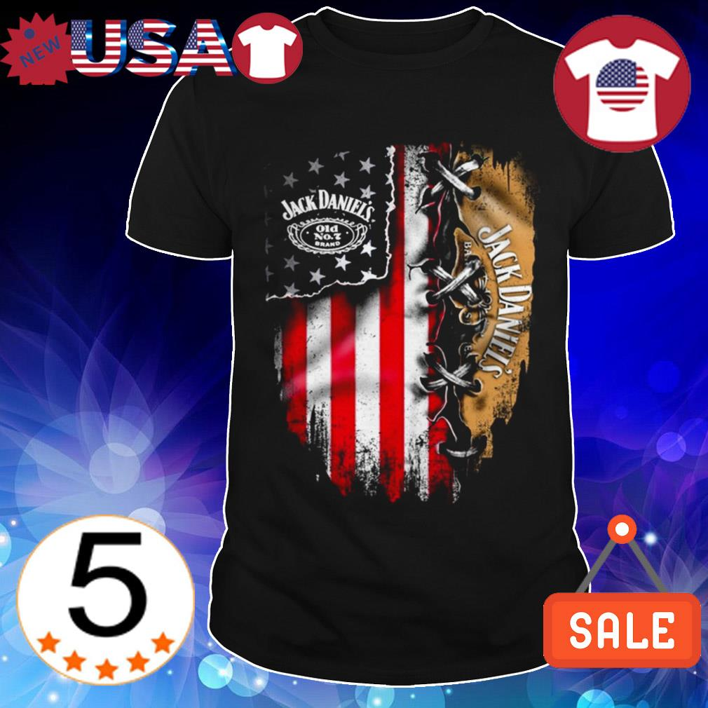 Jack Daniels whiskey American flag Independence Day 4th Of July shirt