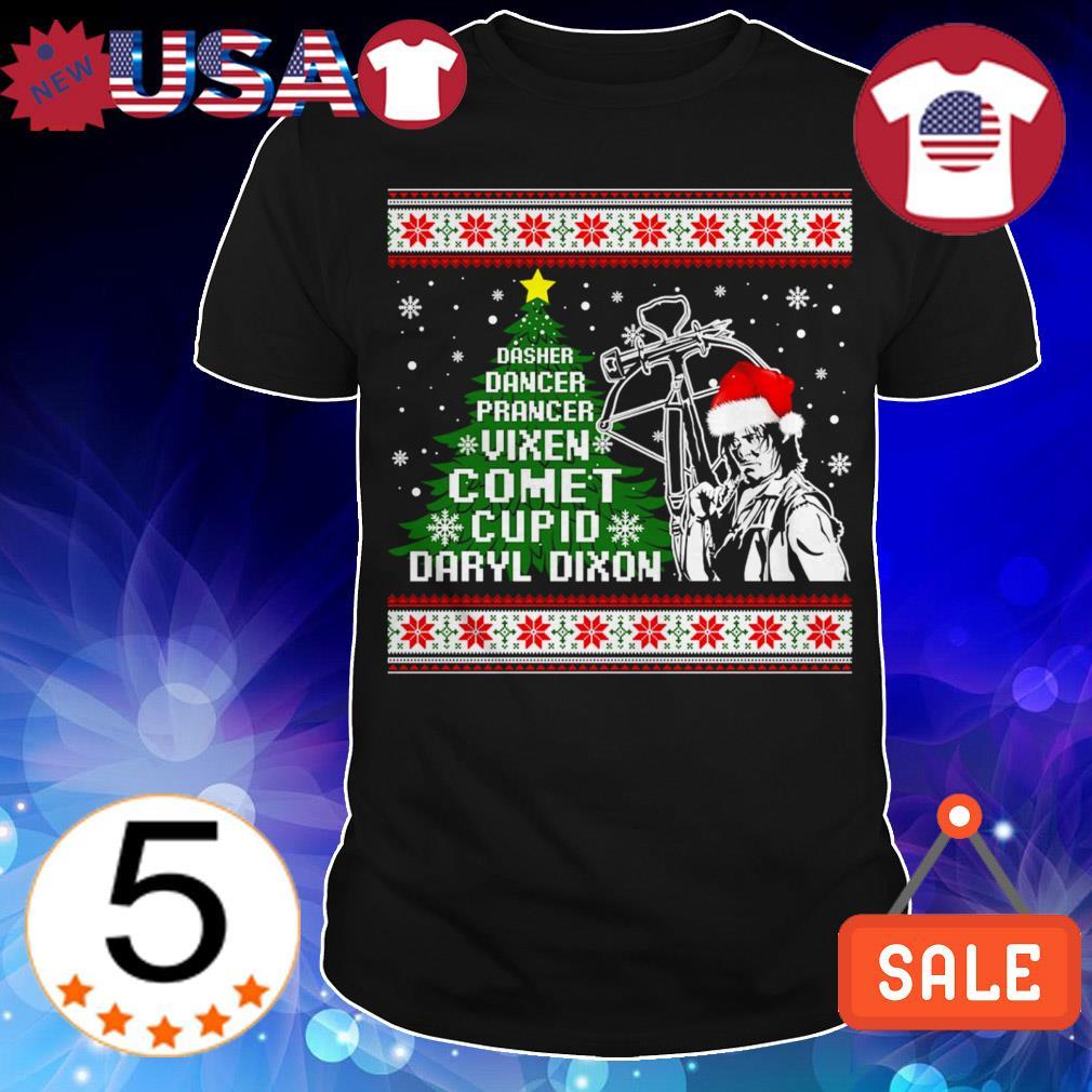 Dasher dancer prancer vixen comet cupid Daryl Dixon Christmas sweater