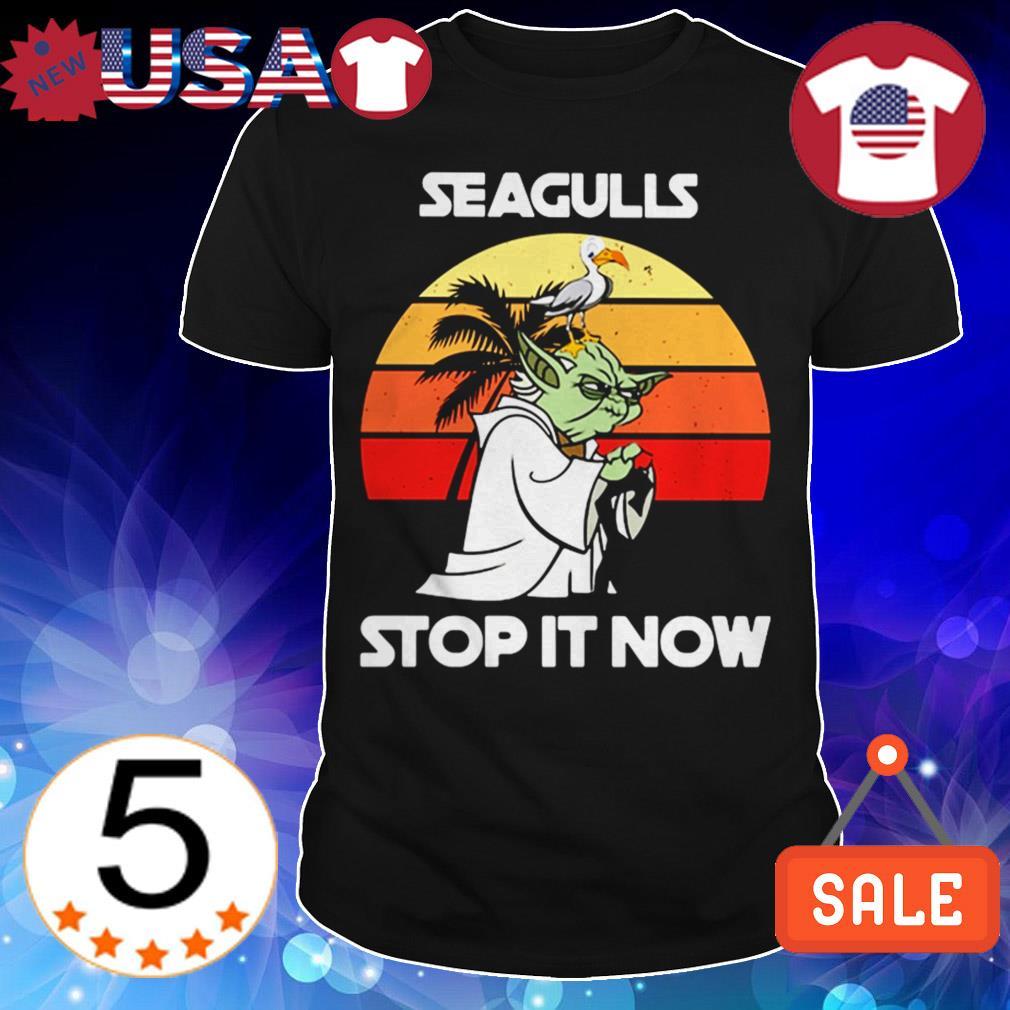 Star Wars Yoda seagulls stop it now vintage shirt