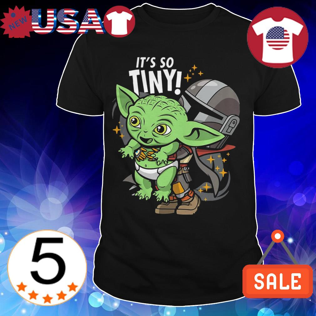 Baby Yoda it's so tiny The Mandalorian Bounty Hunter shirt