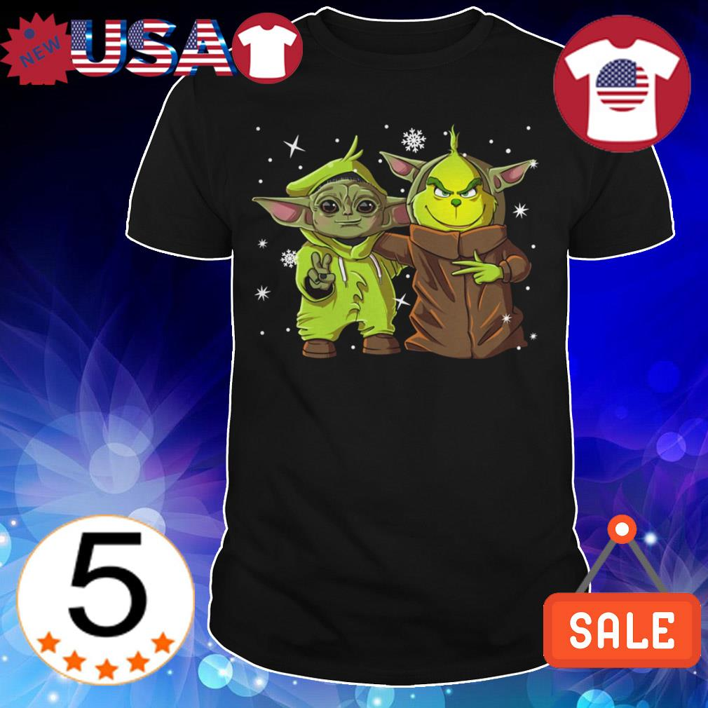 Baby Yoda and baby Grinch Christmas sweater
