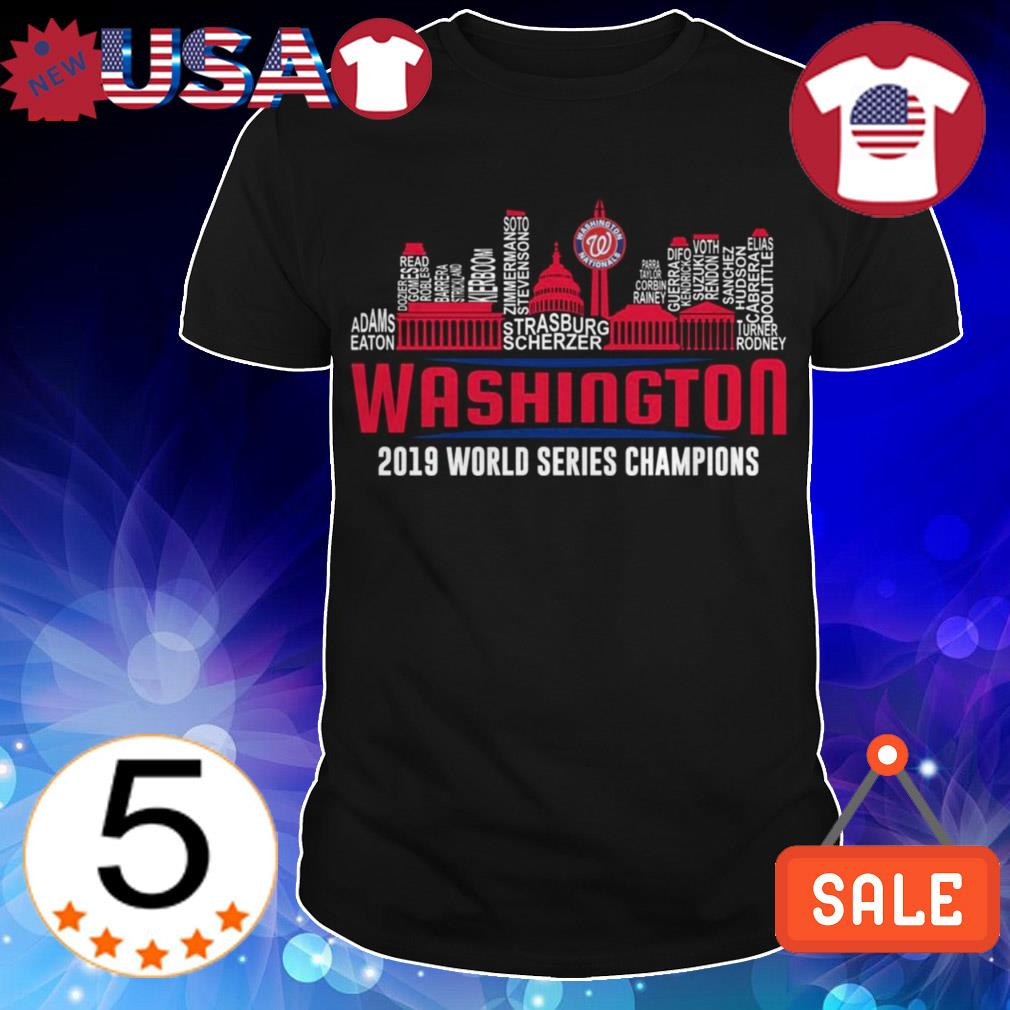 Washington Nationals World Series 2019 Champions all players shirt