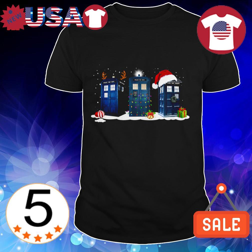 Doctor who Tardis Police box Christmas sweater