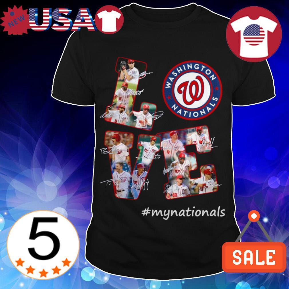 Washington Nationals Love #mynational signature shirt