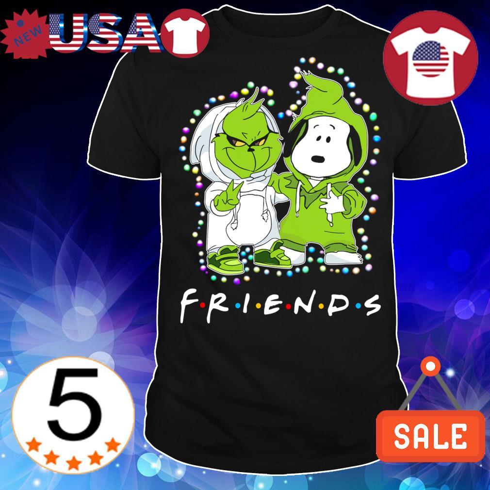 Baby Grinch and Snoopy Friends TV Show Christmas sweater