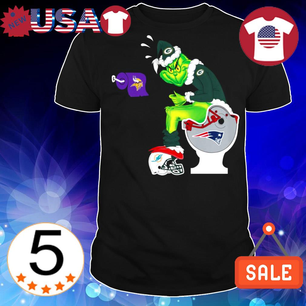 Green Bay Packers Grinch Toilet Minnesota Vikings Chicago Bears Detroit Lions Christmas sweater