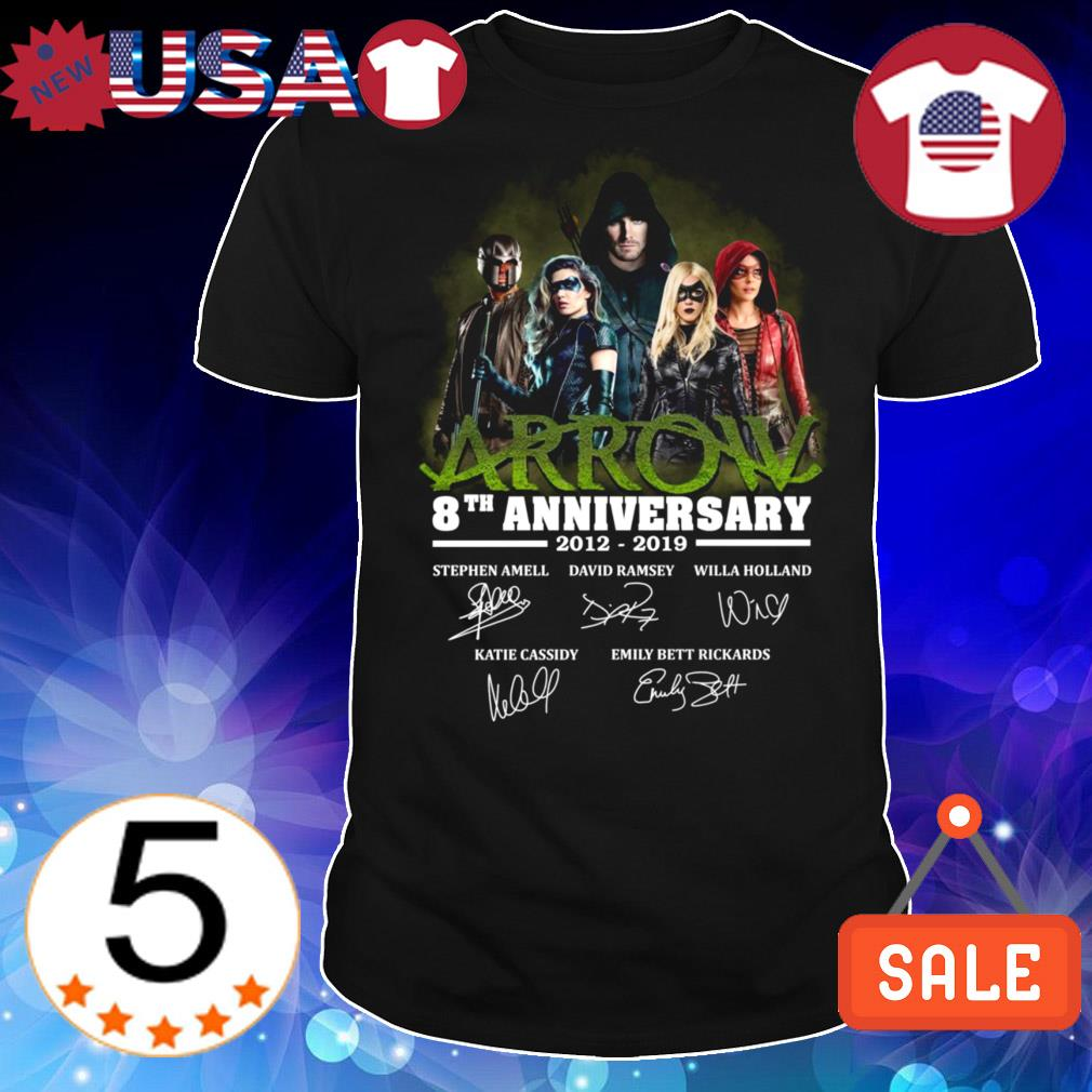 Green Arrow 8th anniversary 2012-2019 signature shirt