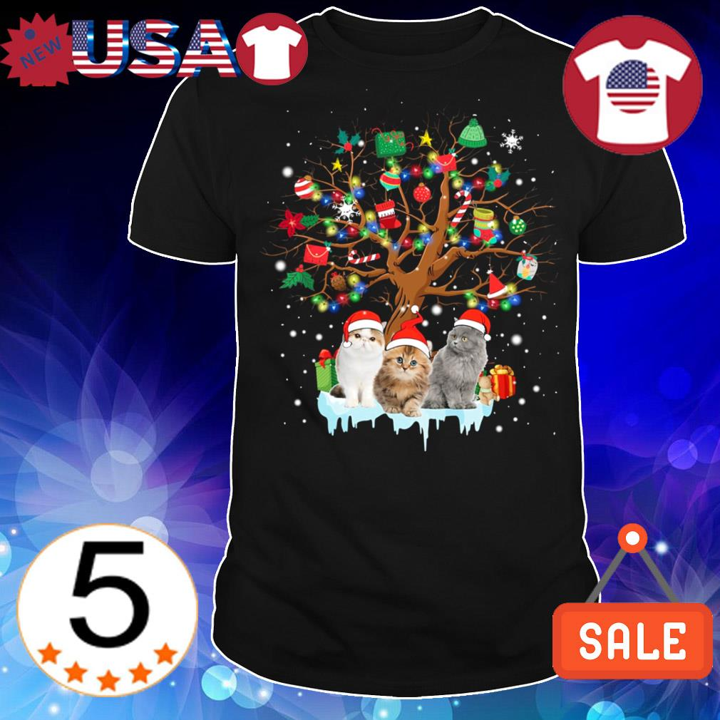 Cat lover Christmas tree sweater