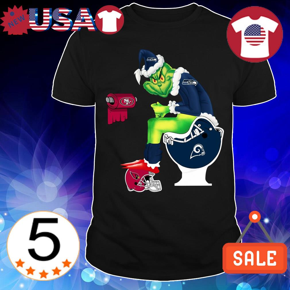 Grinch Toiler Seattle Seahawks San Francisco 49ers Los Angeles Rams Arizona Cardinals Christmas sweater