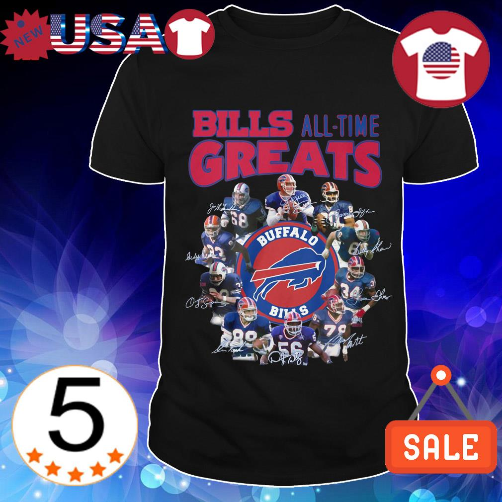 Buffalo Bills all team greats all players signature shirt
