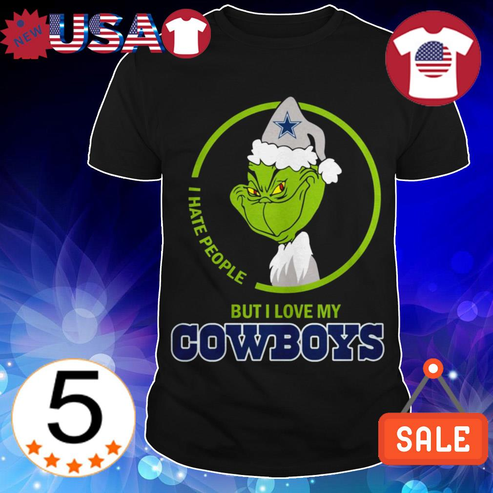 Dallas Cowboys Grinch i hate people but i love my Cowboys shirt