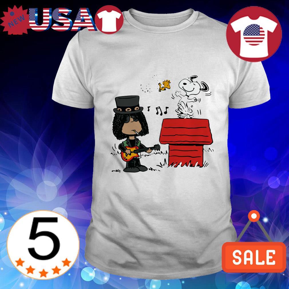 The Peanuts Snoopy Woodstock and Slash shirt