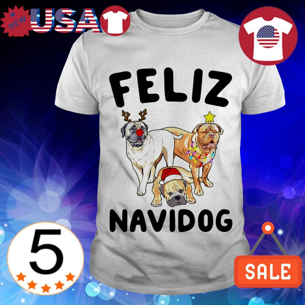 Feliz Navidog Bullmastiff Dog Crewneck Christmas sweater