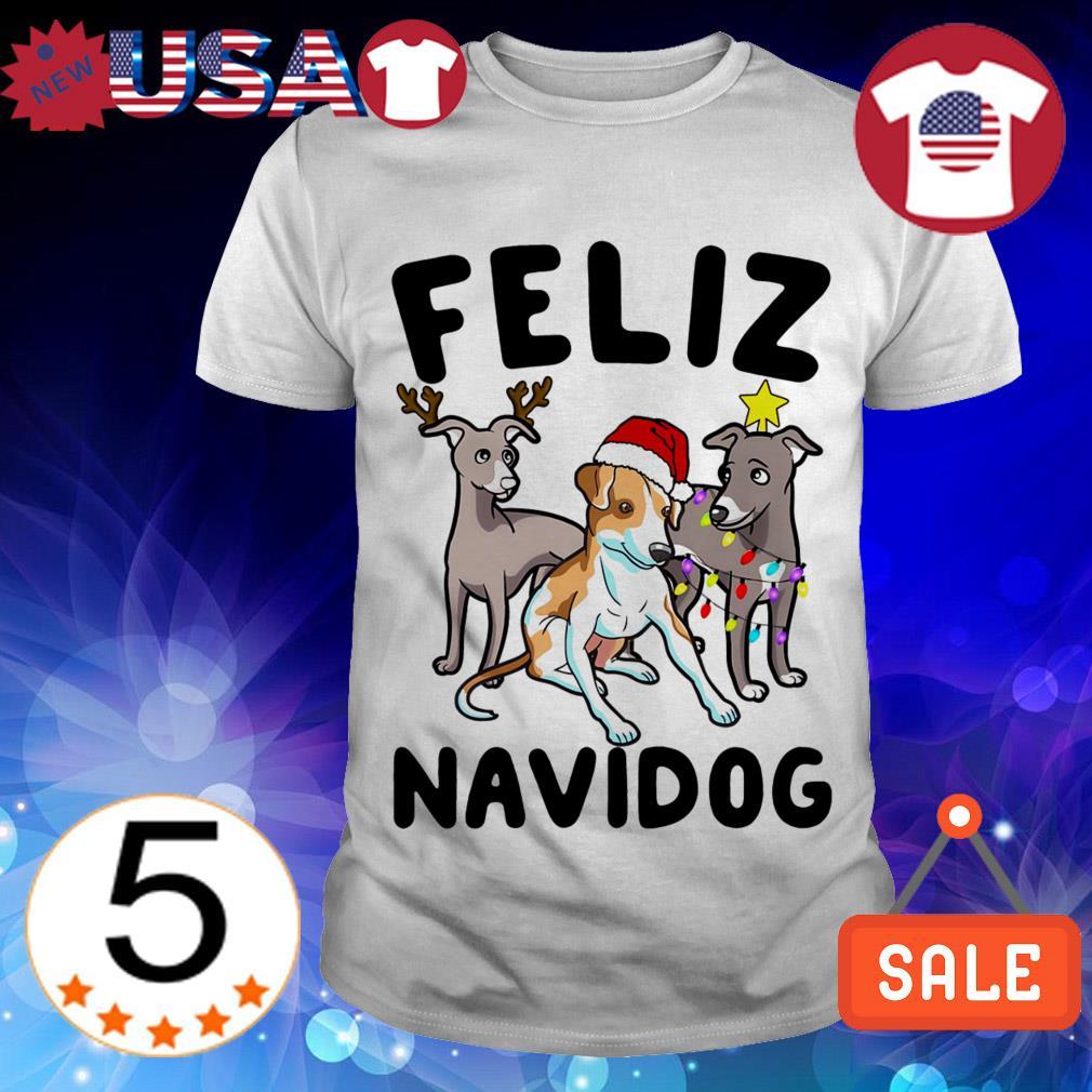 Feliz Navidog Greyhound Crewneck Christmas sweater