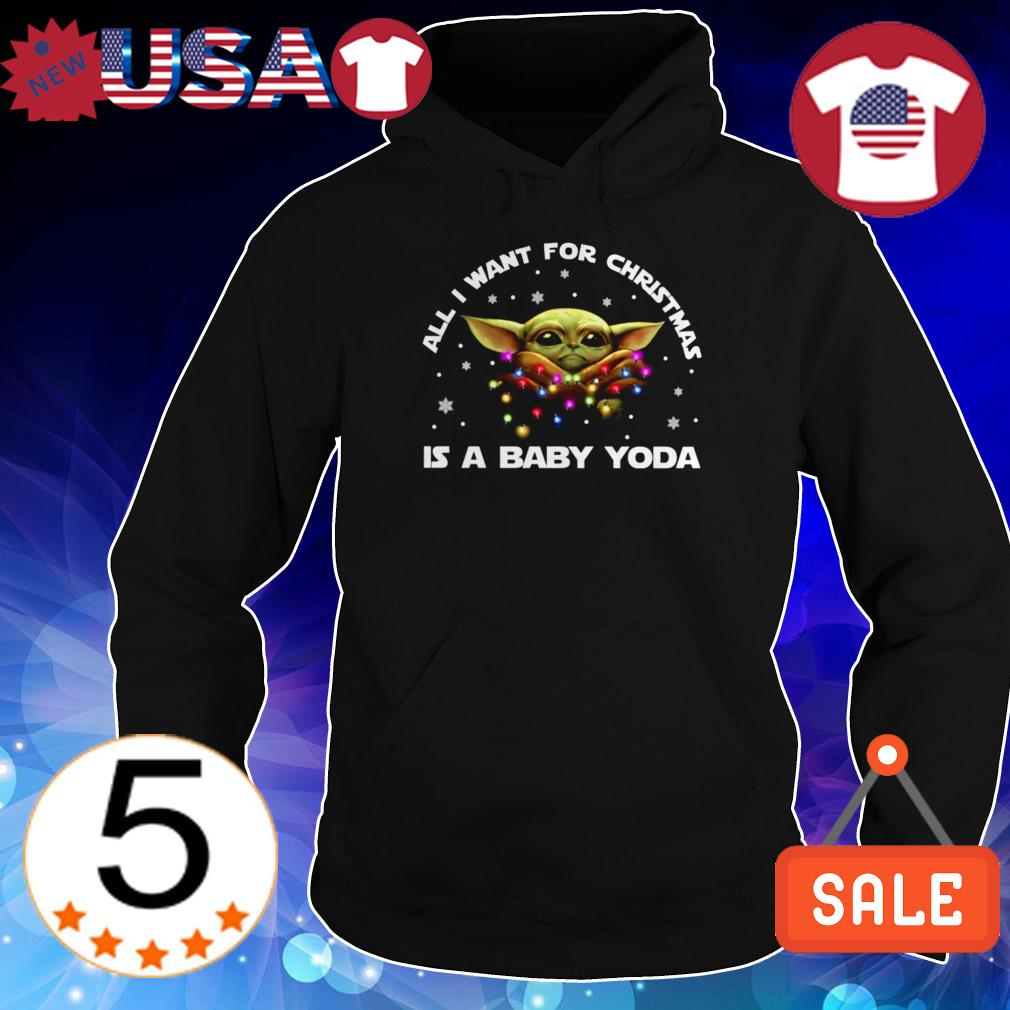 Star Wars all i want for Christmas is Baby Yoda sweater