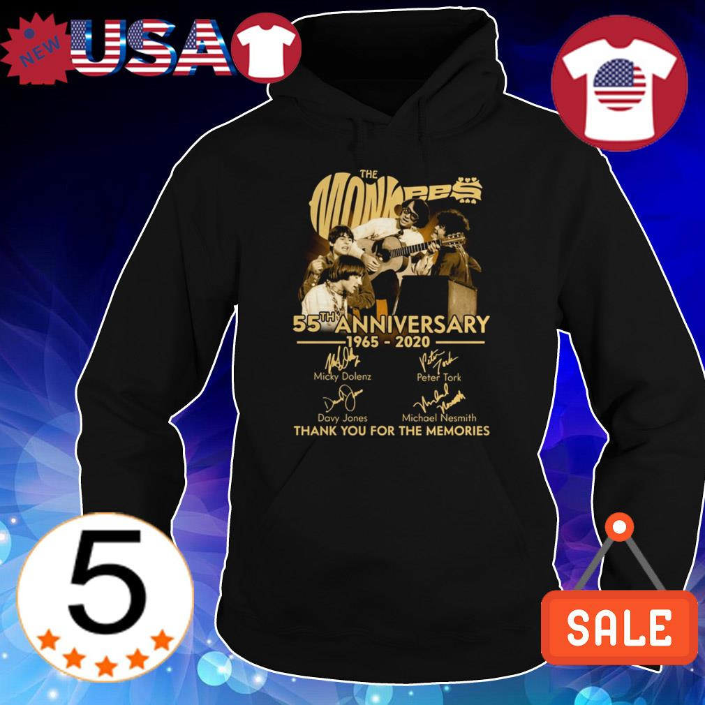 The Monkees 55 years anniversary 1965 2020 thank you for the memories signature shirt