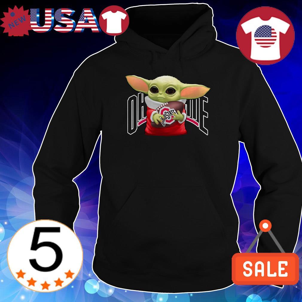 Star Wars Baby Yoda hug Ohio State Buckeyes shirt