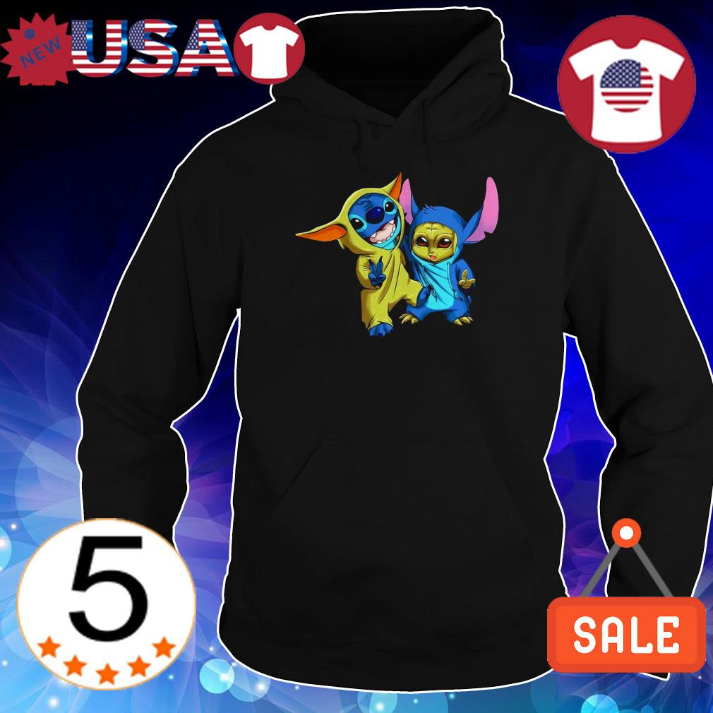 Baby Stitch and Baby Yoda shirt