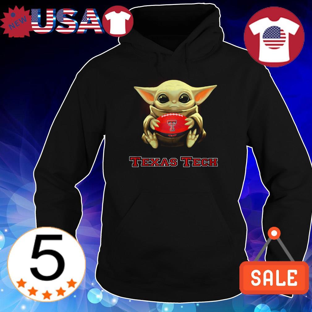 Star Wars Baby Yoda hug Texas Tech shirt