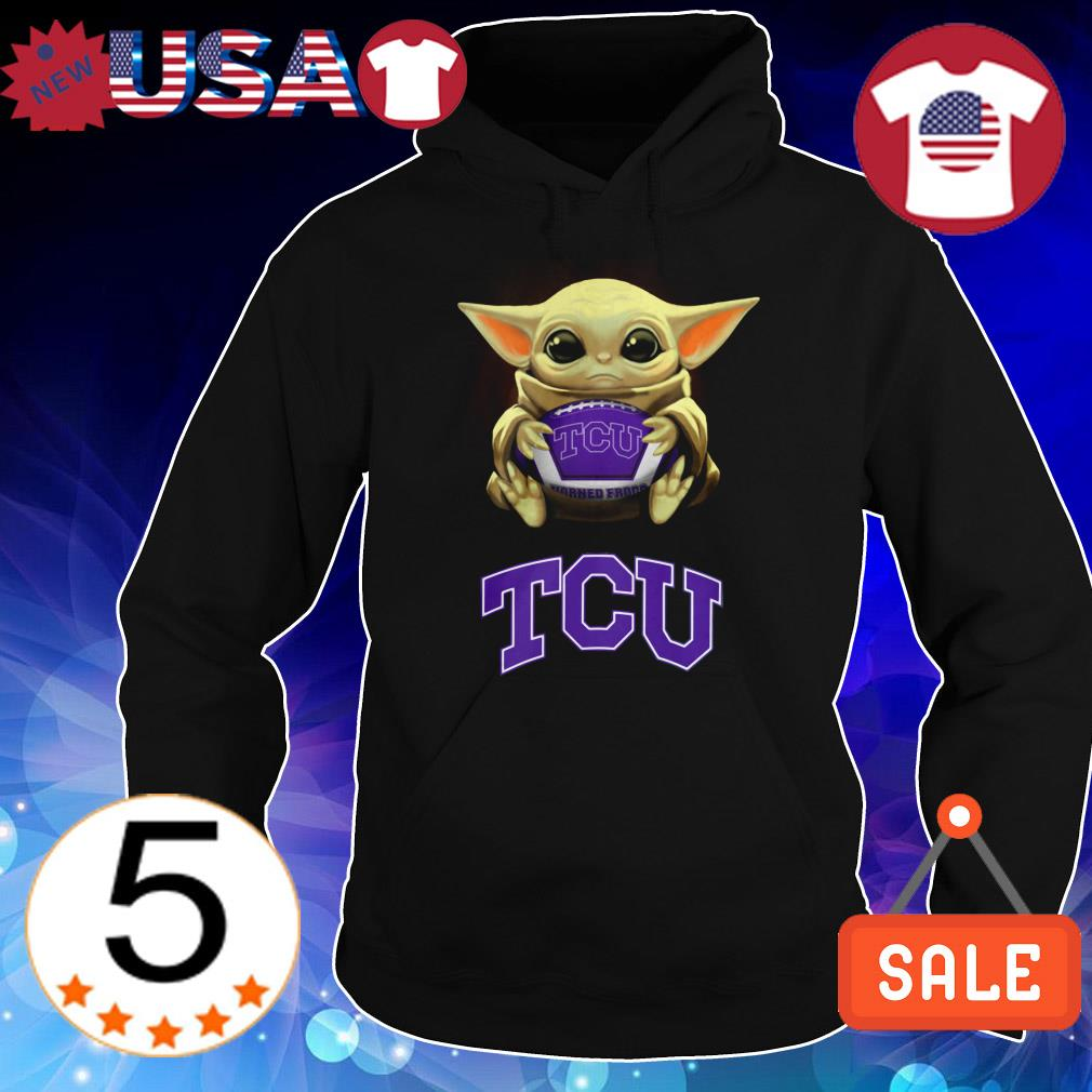 Star Wars Baby Yoda hug Texas Christian University shirt