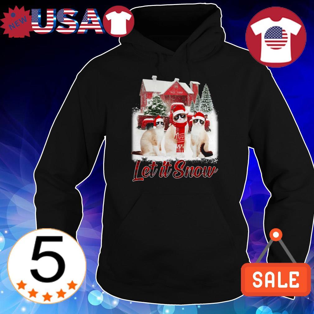 Grumpy cat Let It Snow Christmas sweatshirt