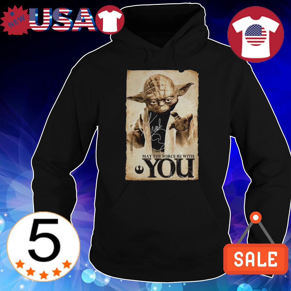 Star Wars Yoda may the force be with you signature shirt