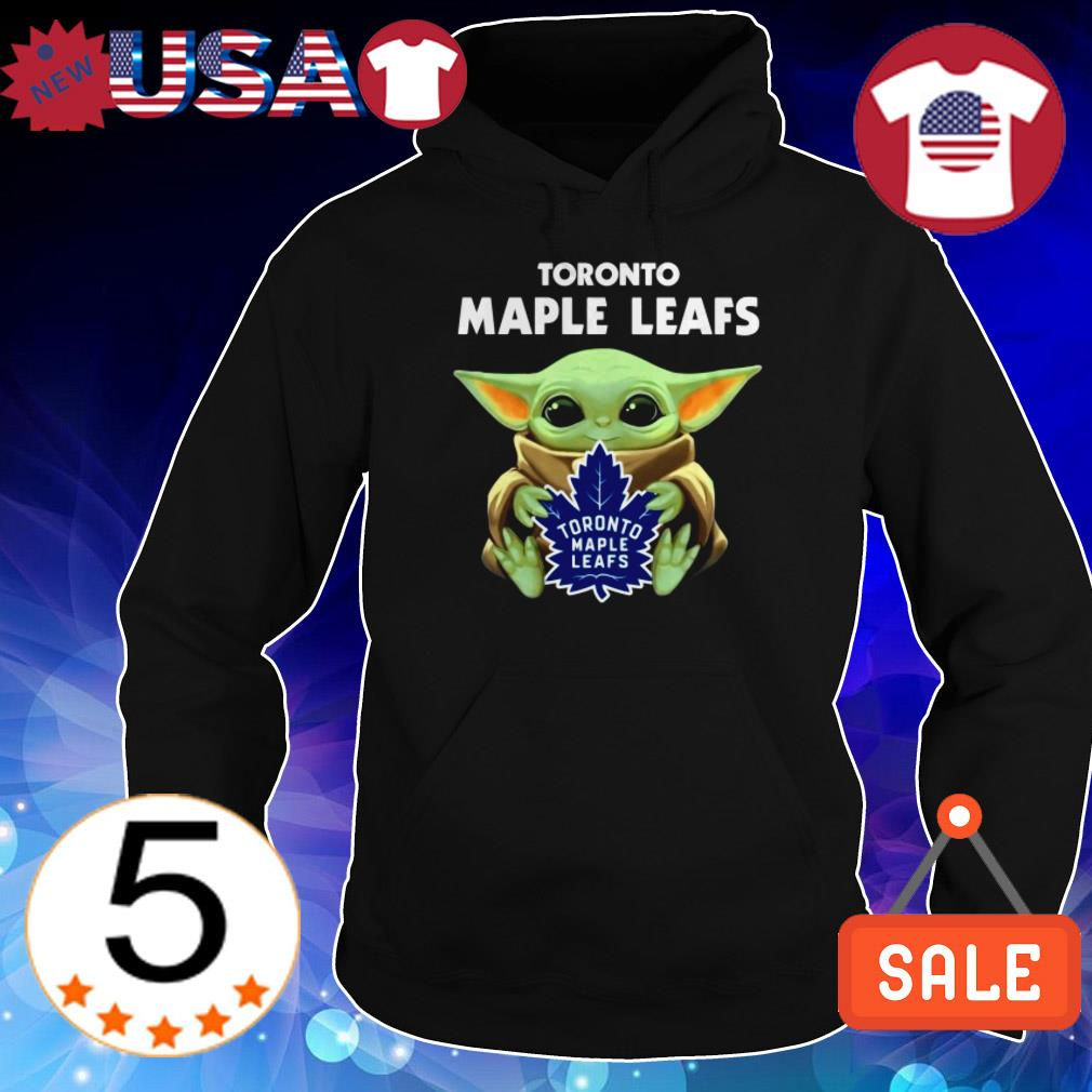 Official Star Wars Baby Yoda hug Toronto Maple Leafs shirt