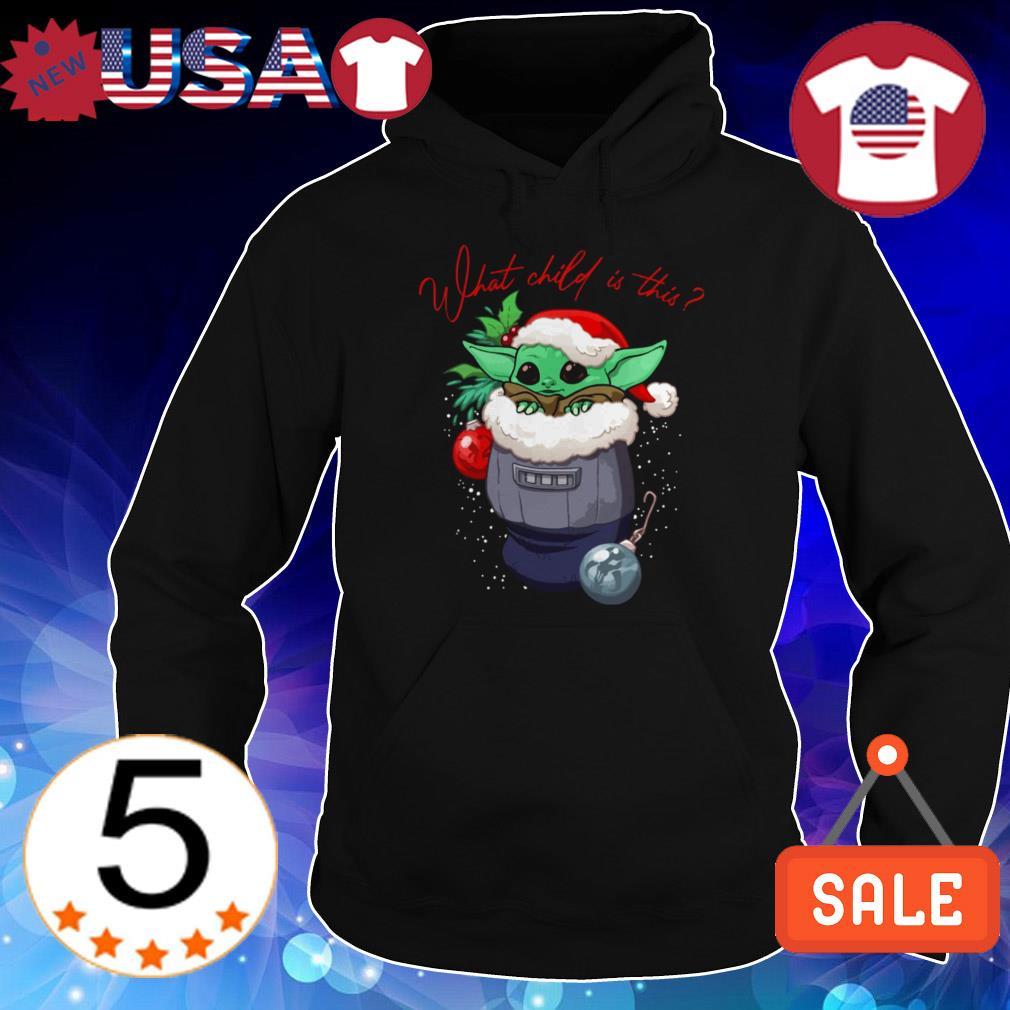 Star Wars Baby Yoda what child is this Christmas sweatshirt