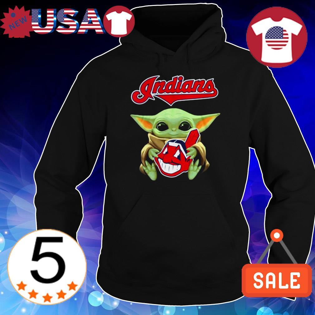 Official Star Wars Baby Yoda hug Cleveland Indians shirt