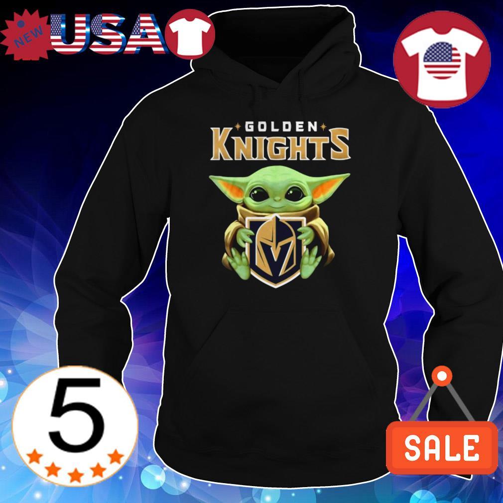 Star Wars Baby Yoda hug Golden Knights shirt