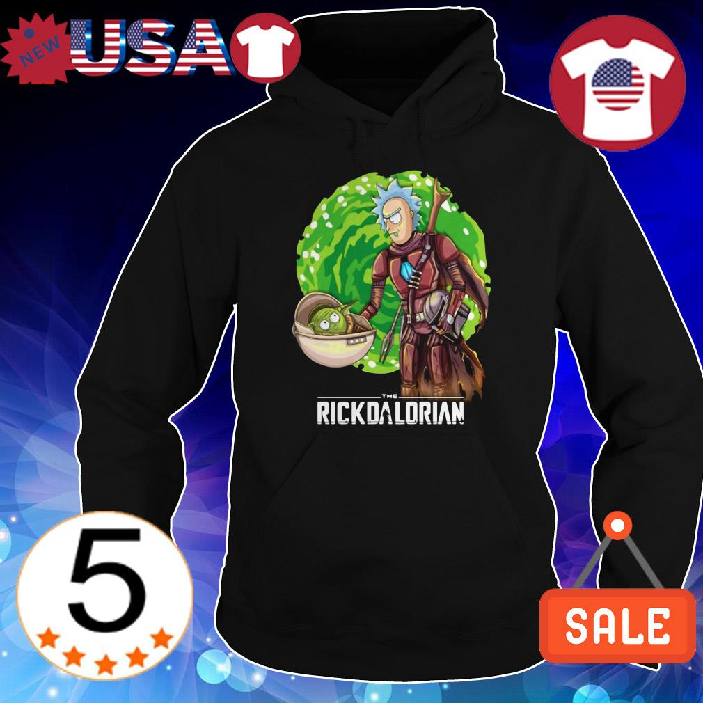 The Rickdalorian Baby Yoda and Rick Morty shirt