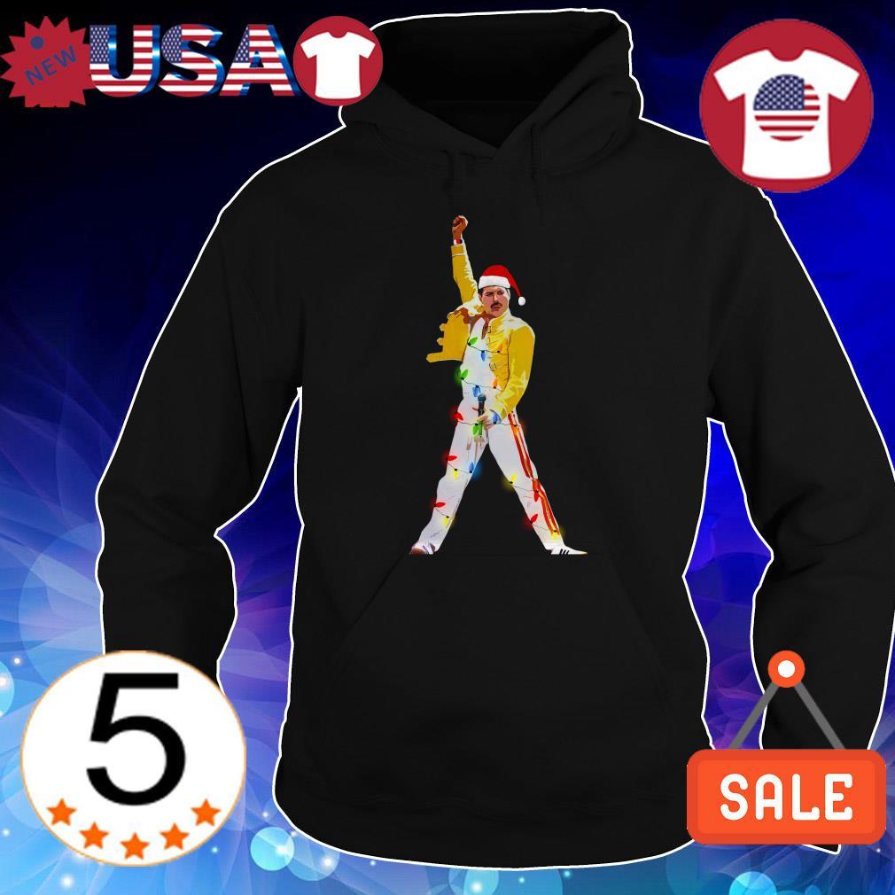 Freddie Mercury wearing Santa Hat Christmas sweatshirt