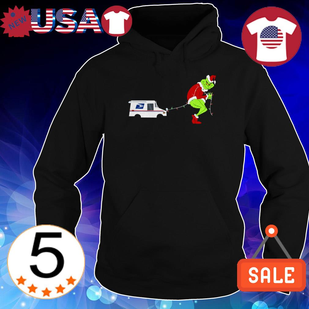 Grinch dragging Philadelphia Eagles car Christmas sweatshirt