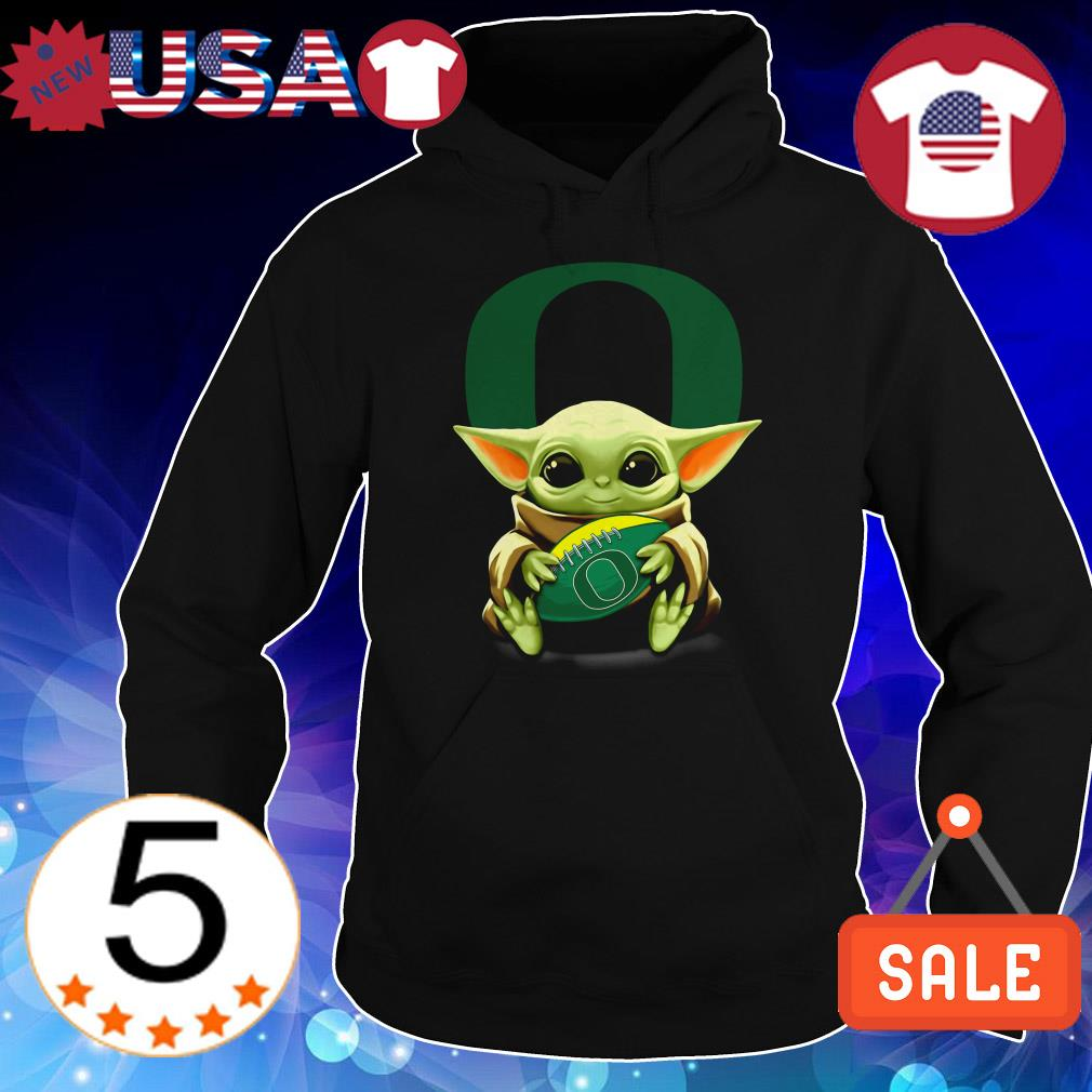 Official Star Wars Baby Yoda hug Oregon Ducks football shirt