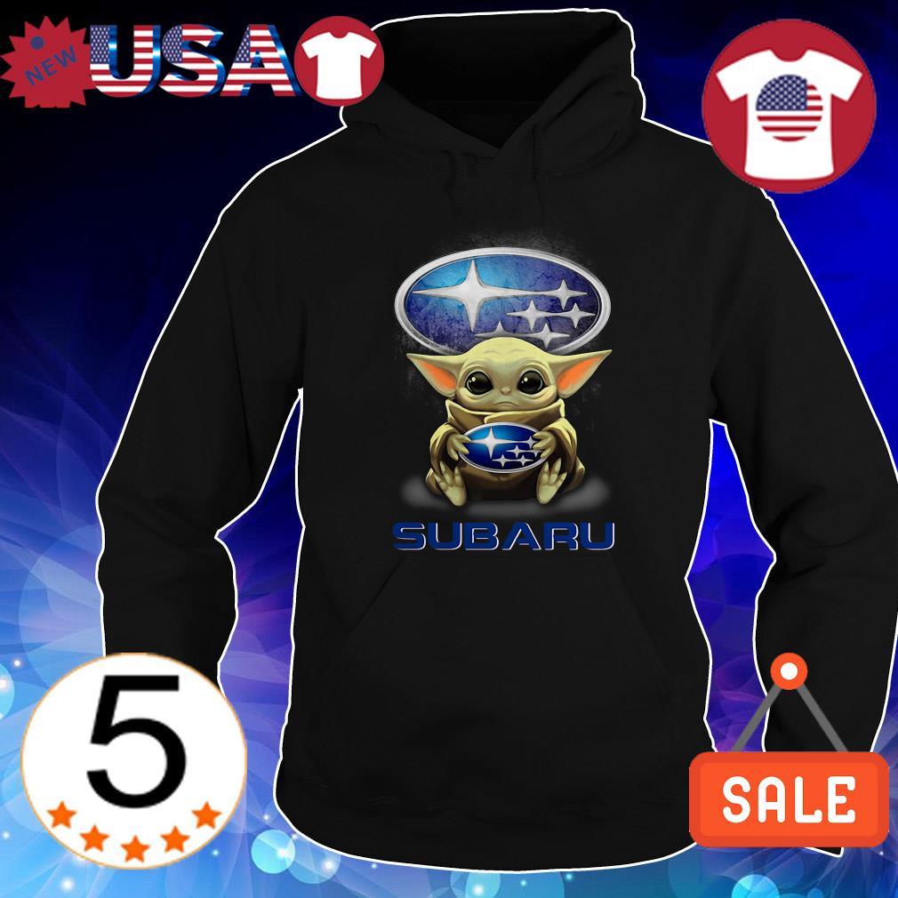 Star Wars Baby Yoda hug Subaru shirt